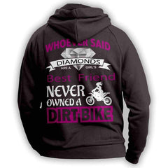 """Girl's Best Friend Dirt Bike"" Hoodie"