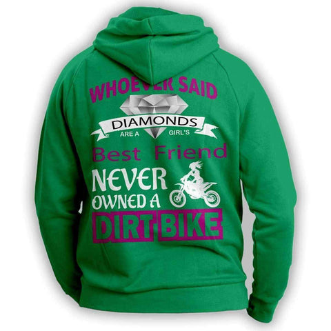 "Image of ""Girl's Best Friend Dirt Bike"" Hoodie"