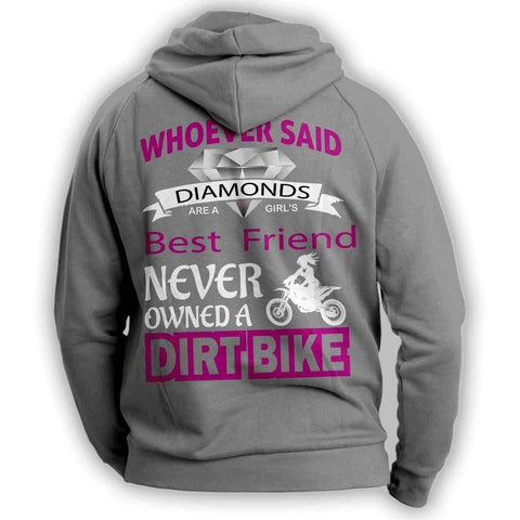 """Girl's Best Friend Dirt Bike"" Hoodie - OutdoorsAdventurer"