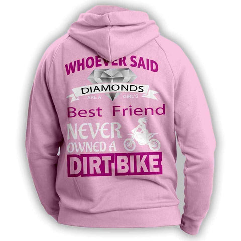 "Image of ""Girl's Best Friend Dirt Bike"" Hoodie - OutdoorsAdventurer"