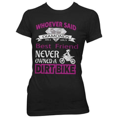 """Girl's Best Friend Dirt Bike"" T-Shirt"