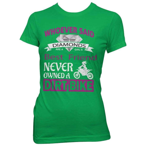 """Girl's Best Friend Dirt Bike"" T-Shirt - OutdoorsAdventurer"