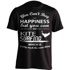 You Can't Buy Happiness  Kite Surfing T-Shirt
