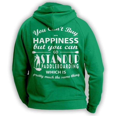 Image of You Can't Buy Happiness Standup Paddleboarding Hoodie