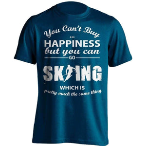 You Can't Buy Happiness Skiing T-Shirt