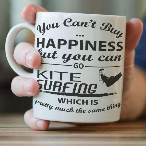 "Image of ""You Can't Buy Happiness But You Can Go Kite Surfing"" Mug - OutdoorsAdventurer"