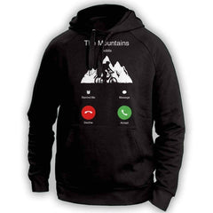 The Mountains Mobile Mountain Biking Hoodie