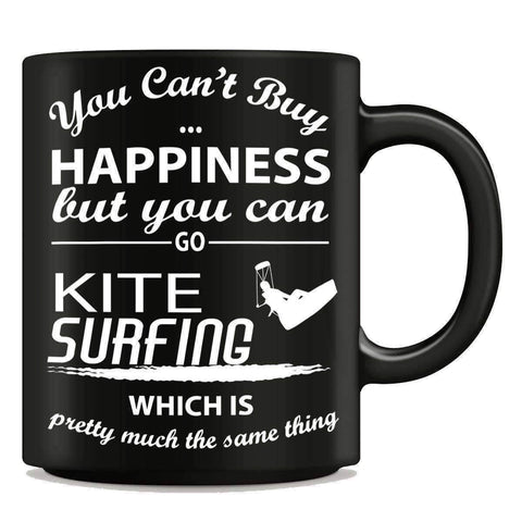 """You Can't Buy Happiness But You Can Go Kite Surfing"" Mug - OutdoorsAdventurer"
