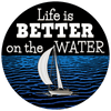 "Image of ""Life Is Better On The Water"" Sailing Bracelet"
