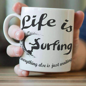 """Life is Surfing"" Mug - OutdoorsAdventurer"