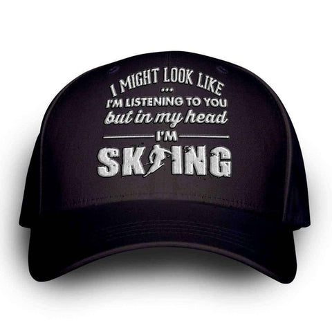 "Image of ""I Might Look Like I'm Listening To You"" Skiing Cap"