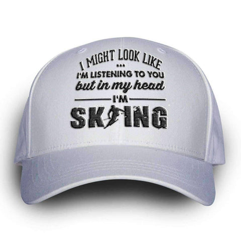 "Image of ""I Might Look Like I'm Listening To You"" Skiing Cap - OutdoorsAdventurer"