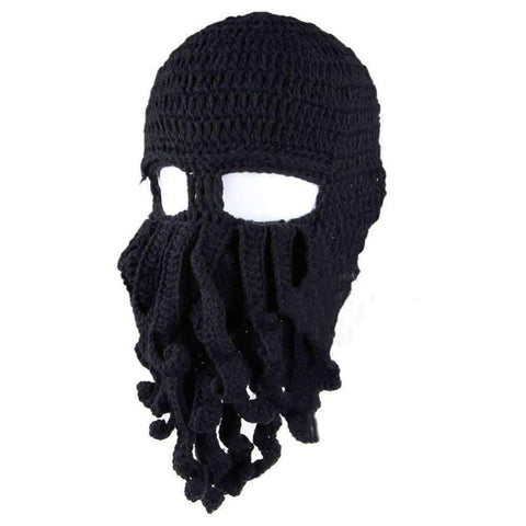 Image of Barbarian Beard Beanie Octopus Knitted Hat - OutdoorsAdventurer