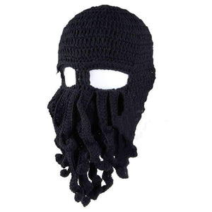 Barbarian Beard Beanie Octopus Knitted Hat - OutdoorsAdventurer
