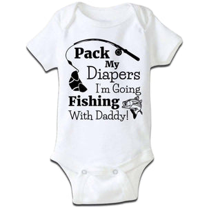 """I'm Going Fishing With Daddy"" Baby Grow"