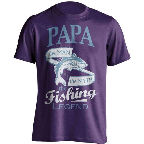 """Papa, The Man, The Myth, The Fishing Legend"" T-Shirt"