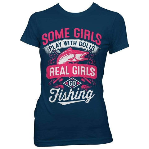 Image of Real Girls Go Fishing T-Shirt - OutdoorsAdventurer