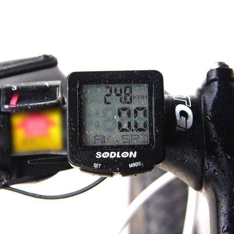 LCD Bike Computer with 20+ Features , Waterproof + Backlit