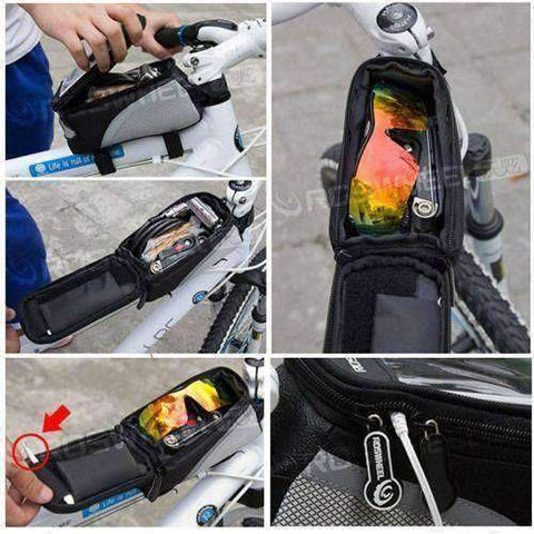 Image of Waterproof Cycling Front Frame For Cell Phone