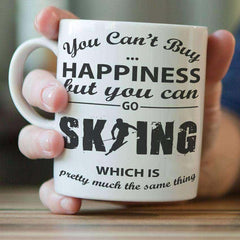 """You Can't Buy Happiness But You Can Go Skiing"" Mug"