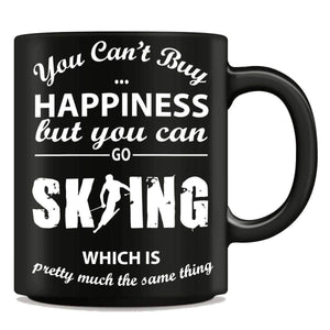 """You Can't Buy Happiness But You Can Go Skiing"" Mug - OutdoorsAdventurer"