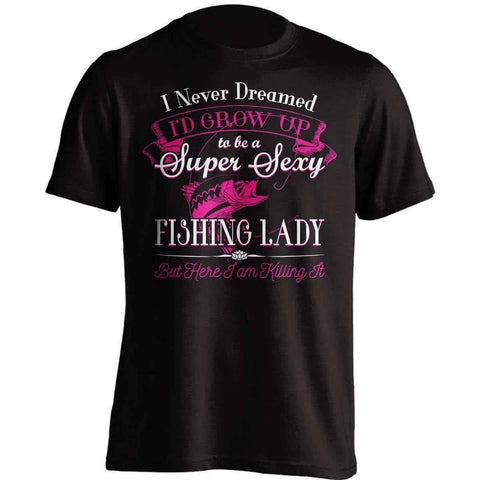 Image of Super Sexy Fishing Lady T-Shirt - OutdoorsAdventurer