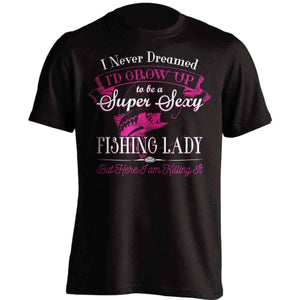 Super Sexy Fishing Lady T-Shirt - OutdoorsAdventurer