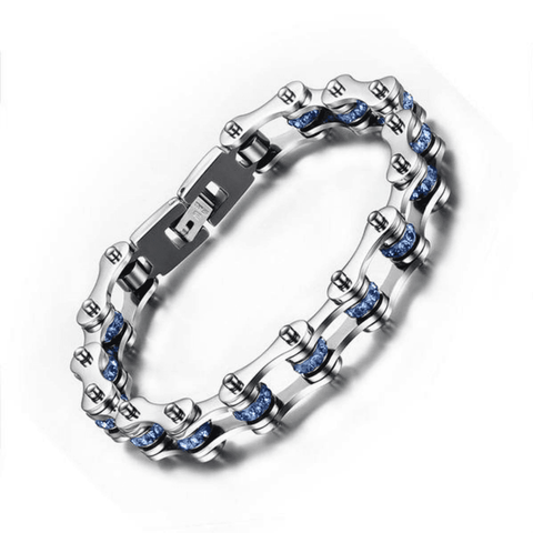 Image of Crystal Stainless Steel Bike Bracelet