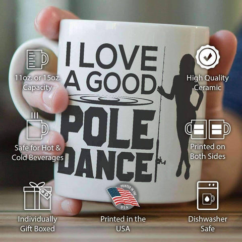 "Image of ""I Love A Good Pole Dance"" Fishing Mug - OutdoorsAdventurer"
