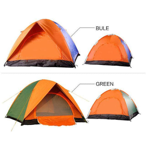 Image of 4 person Windproof Waterproof Anti UV Double Layer Tent  double door  tent Double Layer Outdoor Camping Hike Travel Play Tent