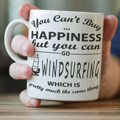 """You Can't Buy Happiness But You Can Go Windsurfing"" Mug"