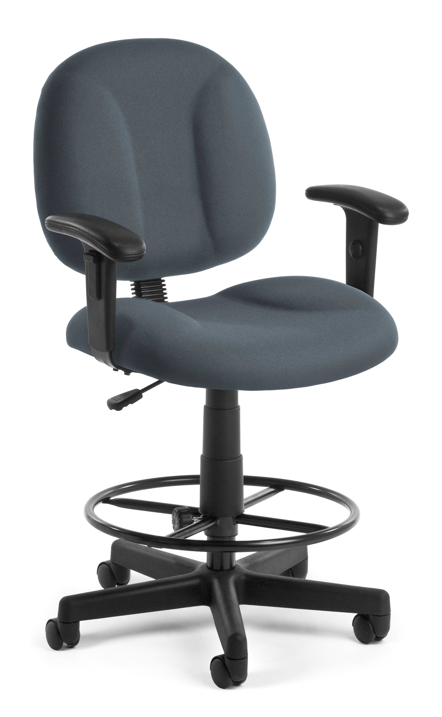 105-AA-DK Comfort Series Superchair Fabric Task Drafting Kit Arm Chair