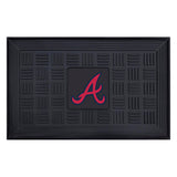 "MLB - Atlanta Braves Medallion Door Mat 19.5""x31.25"""