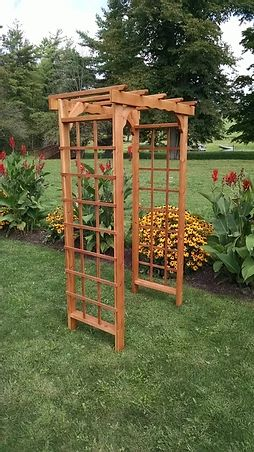 4 Ft Morgan Handcrafted Patio Porch Outdoor Garden Cedar Arbor Made In USA