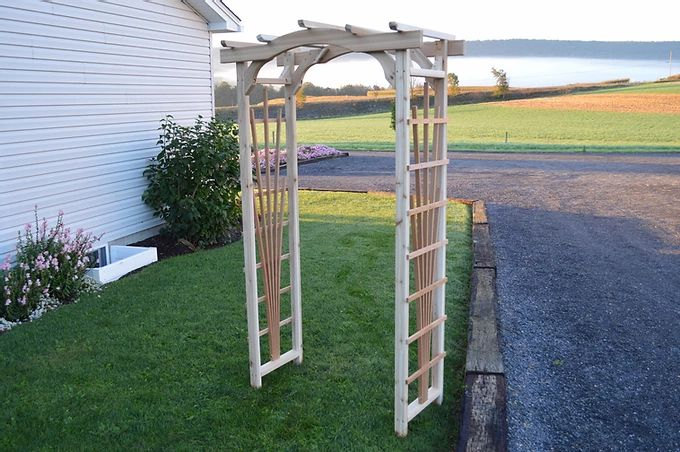 4 Ft Cranbrook Handcrafted Patio Porch Outdoor Garden Cedar Arbor