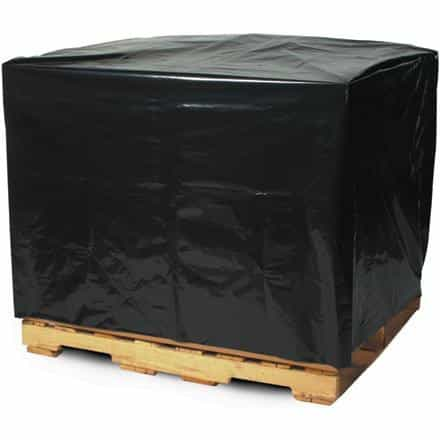 bedinhome - Packaging Supplies 68 Inch x 65 Inch x 82 Inch Large Gusseted Poly Bags 3 Mil Black Pallet Covers- Case Of 50 - UNBRANDED - Black Pallet Covers