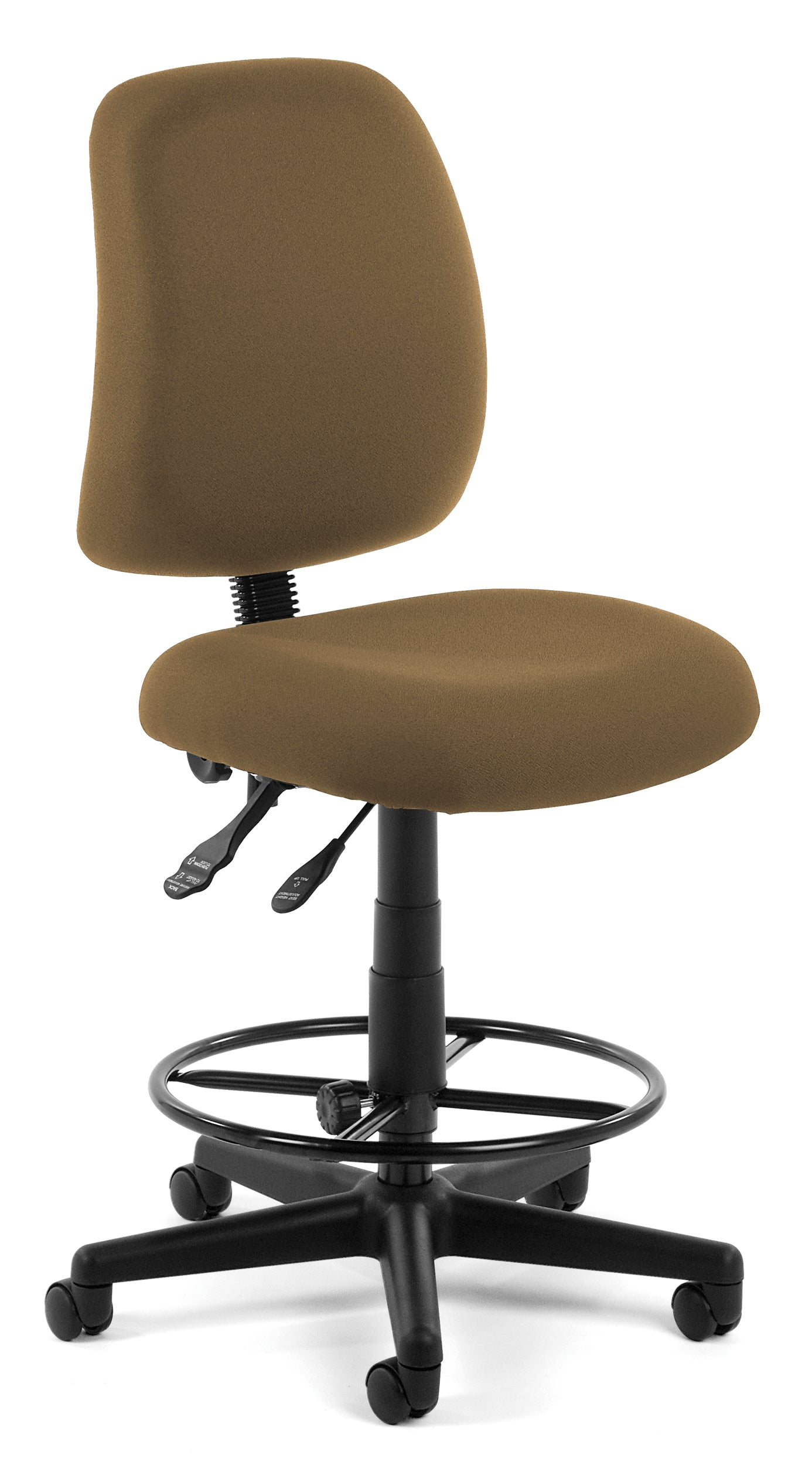 118-2-DK Posture Series Armless Fabric Swivel Drafting Kit Task Chair