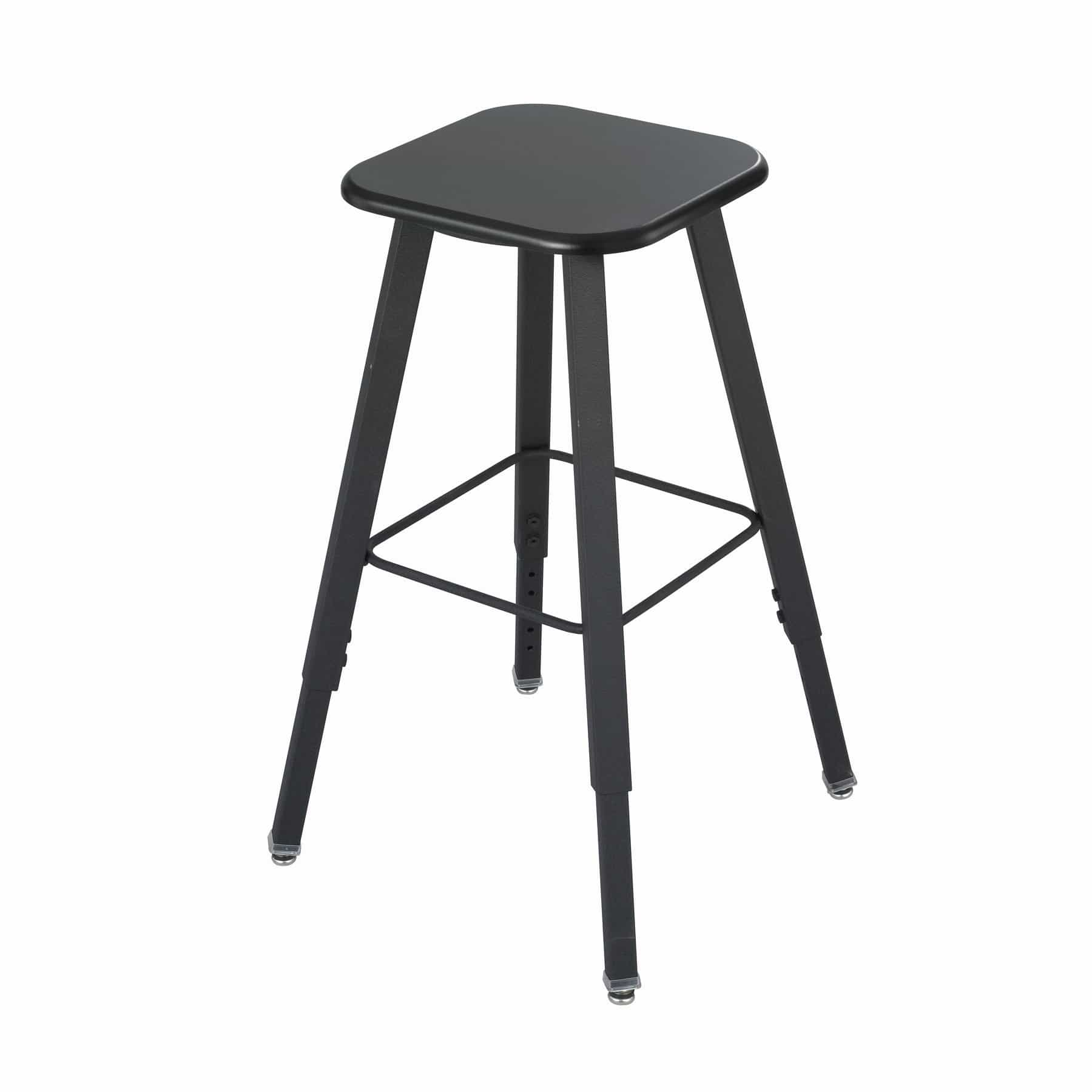 bedinhome - 1205BE AlphaBetter® 13 In x 13 In Thermoplastic Beige Seat & Black Frame Adjustable-Height Student Stool with Tip-Resistant Base - Safco - Educational Furniture