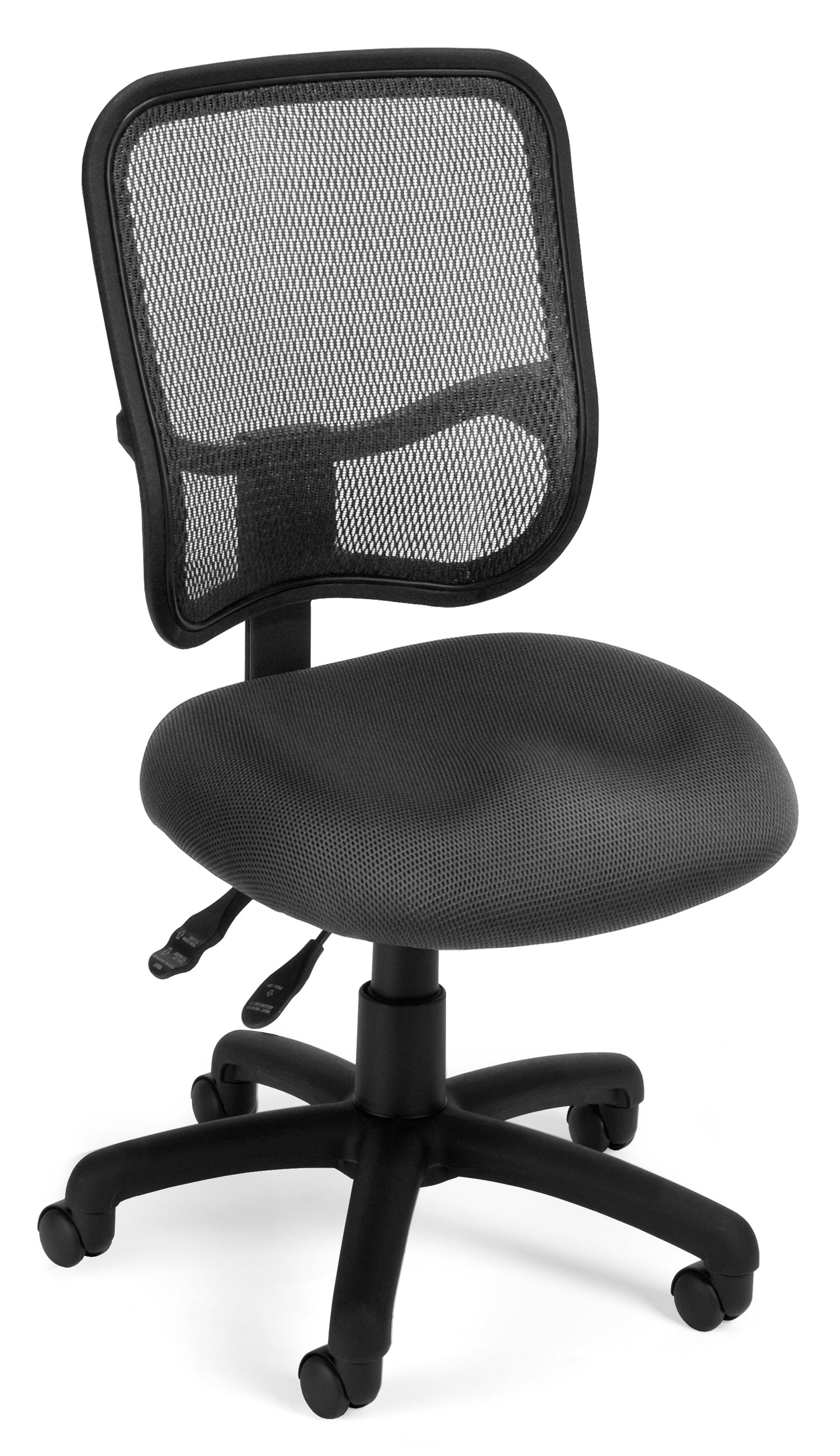 Model 130 Comfort Series Ergonomic Mesh Swivel Armless Task Chair