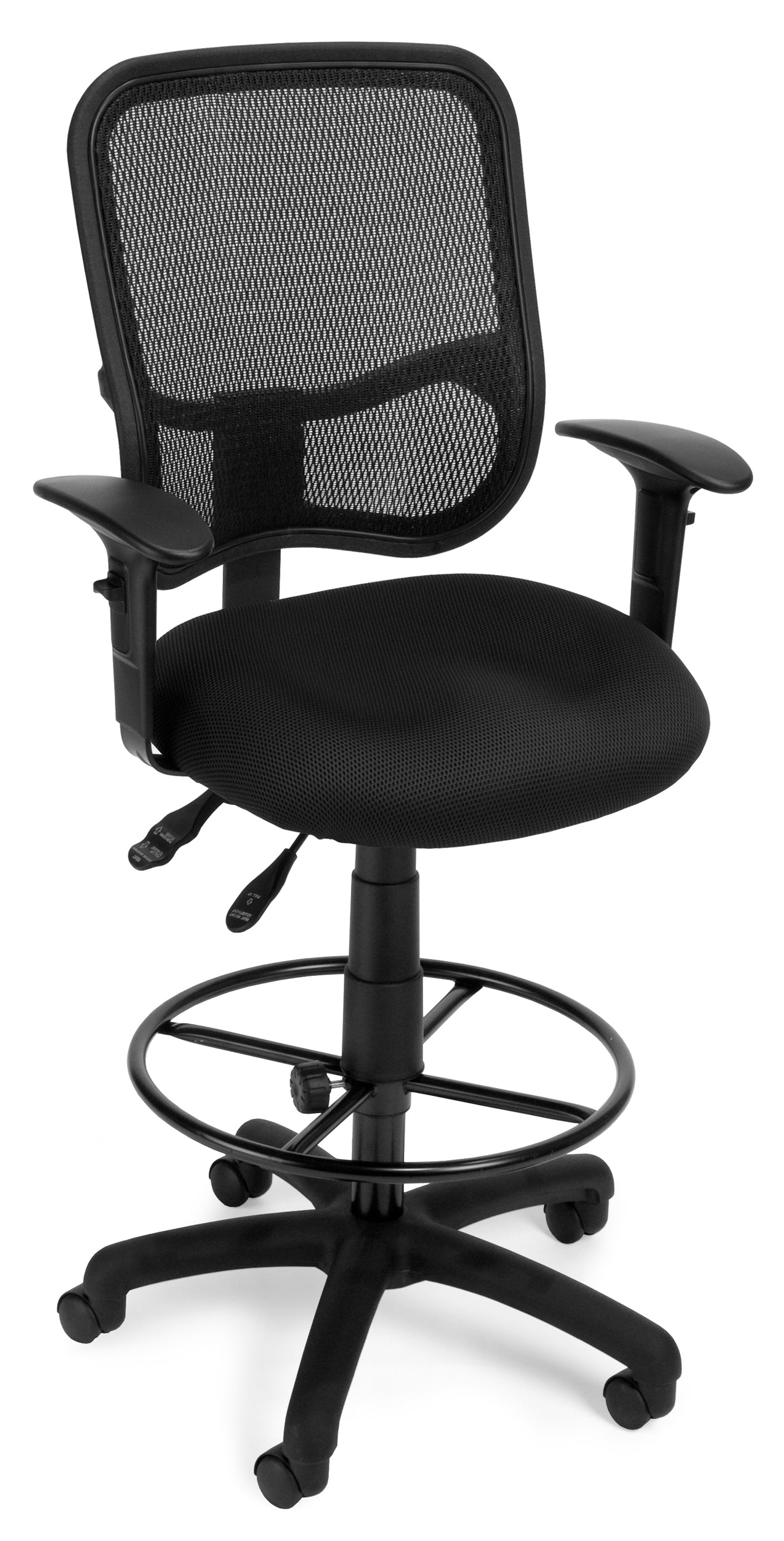 Comfort Series Ergonomic Mesh Swivel Task Drafting Kit Arms Chair