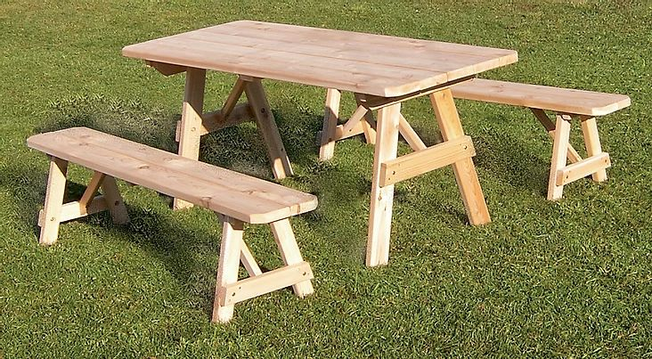 Outdoor Garden Furniture Traditional Table With 2 Benches
