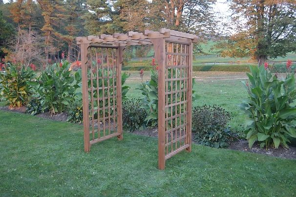 4 Ft Lexington Handcrafted Patio Porch Outdoor Garden Cedar Arbor Made In USA