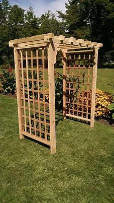 4 Ft Lexington Handcrafted Patio Porch Outdoor Garden Cedar Arbor