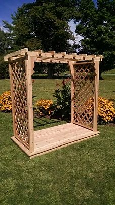 4 Ft Covington Handcrafted Patio Porch Outdoor Garden Cedar Arbor & Deck