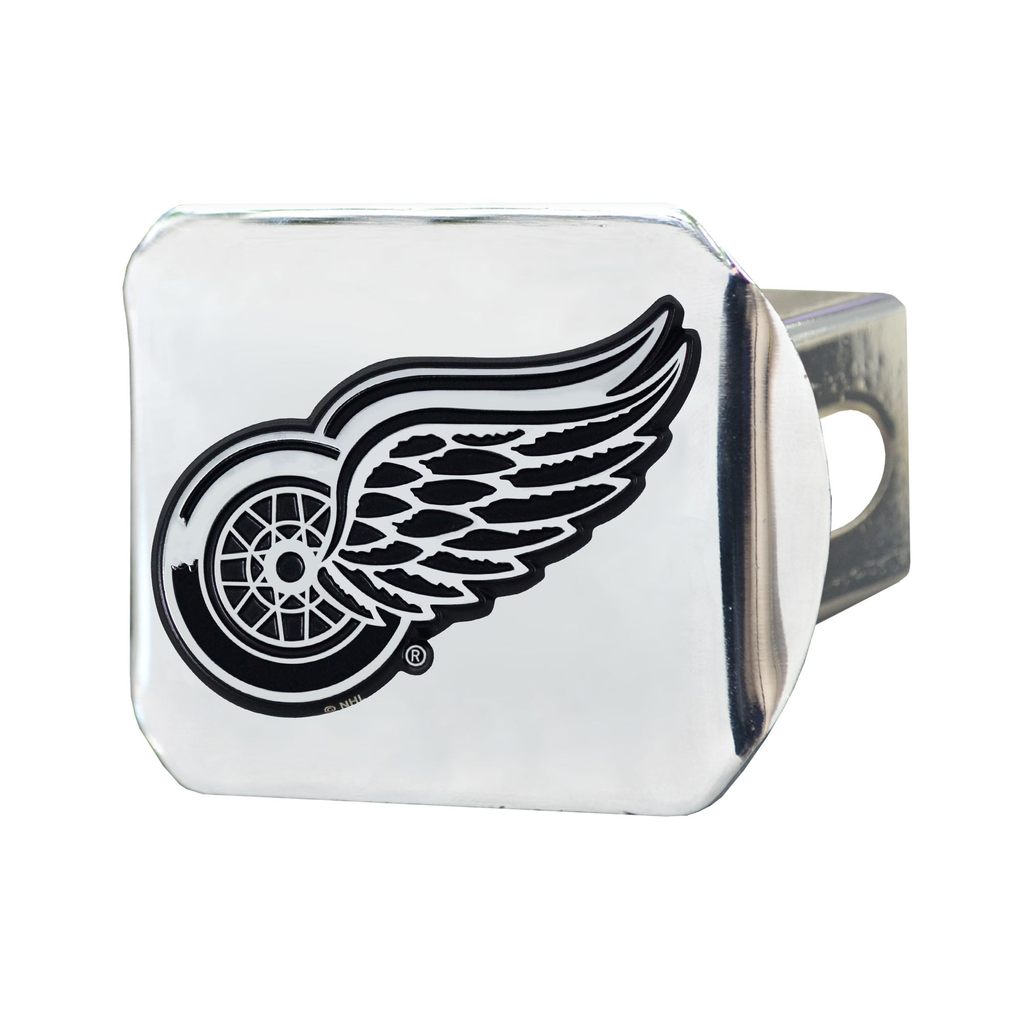 "NHL - Detroit Red Wings Hitch Cover - Chrome on Chrome 3.4""x4"""