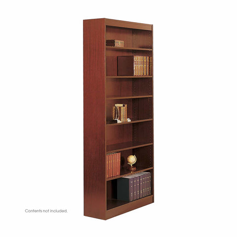 bedinhome - 1506CYC Office School 84 H Square-Edge Veneer Cherry Bookcase With 100 Lbs Holds Upto 7 Shelf - Safco - Bookcases