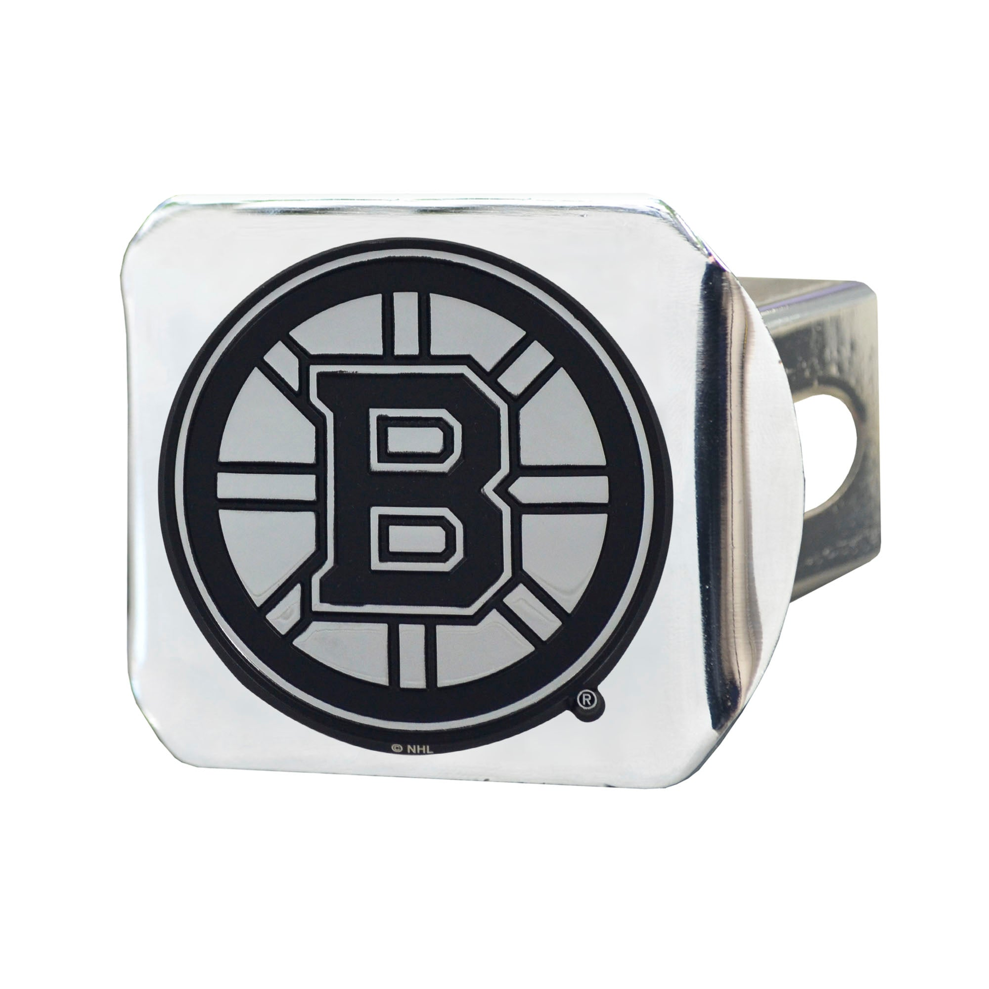 "NHL - Boston Bruins Hitch Cover - Chrome on Chrome 3.4""x4"""