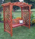 5 Ft Jamesport Handcrafted Patio Porch Outdoor Garden Cedar Arbor & Swing