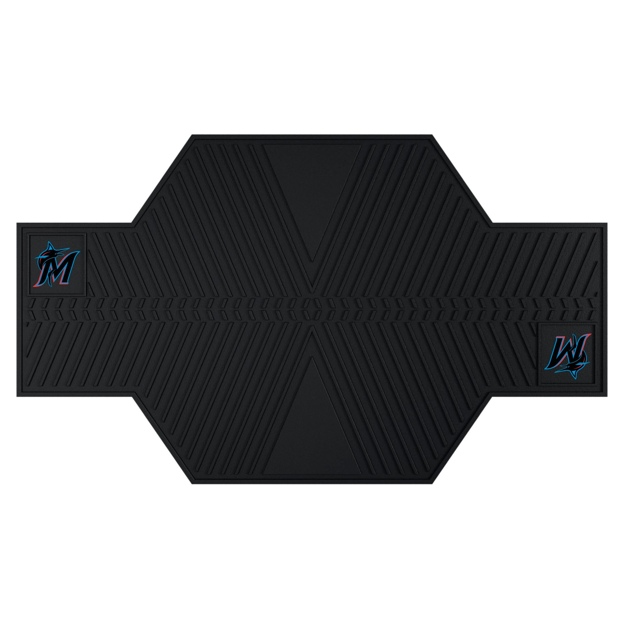 "MLB - Miami Marlins Motorcycle Mat 82.5""x42"""