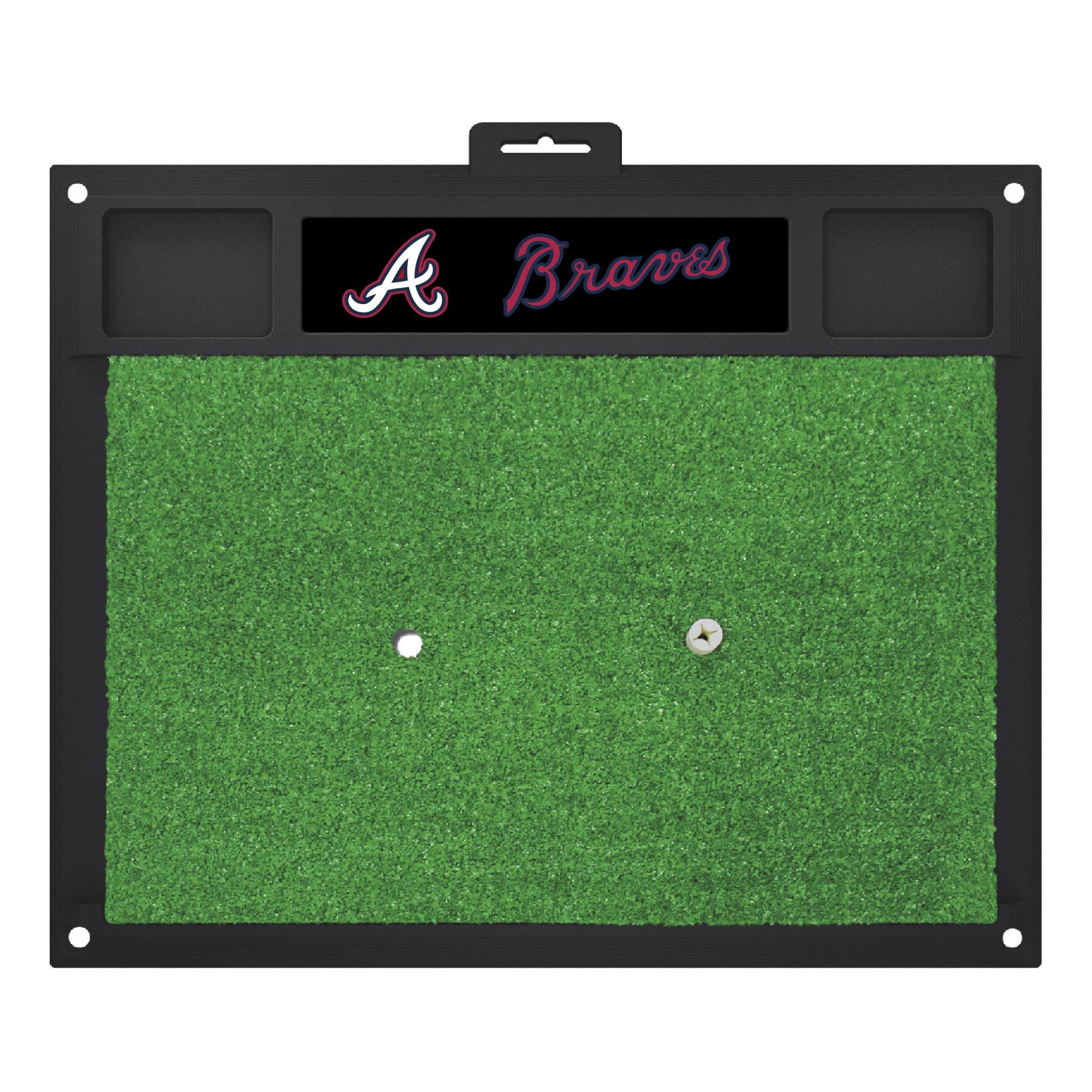 "MLB - Atlanta Braves Golf Hitting Mat 20"" x 17"""